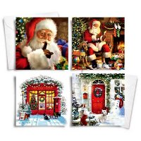 Festive Wonderland Traditional Christmas Cards (Pack of 10) - Assorted
