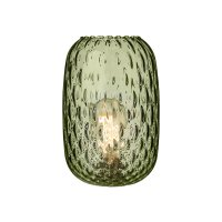 David Hunt Vidro Small Dimpled Non Elec Glass Olive Green