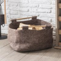 Garden Trading Southwold Basket with Wooden Handle - Felt