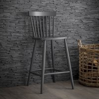 Garden Trading Spindle Bar Stool in Carbon - Beech