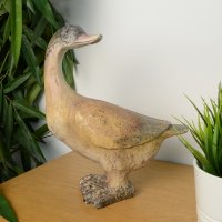 Elur Goose 30cm Carved Wood Effect