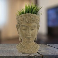 Elur Head Planter 30cm Stone Effect