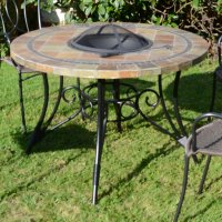 Byron Manor Colorado 107cm Fire Pit Table