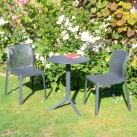 Nardi High Range Step Table with 2 Bit Chairs Anthracite