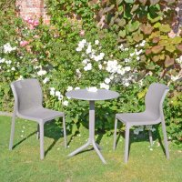 Nardi High Range Step Table with 2 Bit Chairs Turtle Dove