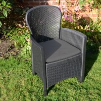 Trabella Sicily  Chair Anthracite Pack of 2