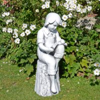 Solstice Sculptures Finn Reading Boy 88cm White Stone Effect