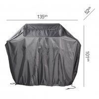 Pacific Lifestyle Gas Barbecue Aerocover - 135 x 52 x 101cm