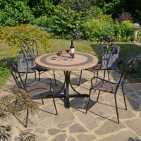 Byron Manor Vermont Dining Table with 4 Verona Chairs