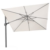 Pacific Lifestyle Challenger T2 3m Square Ivory Parasol