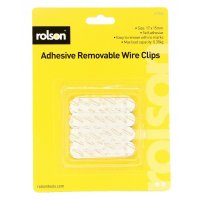 Rolson 12pc Small Removable Adhesive Wire Clips
