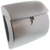 Burg Wachter Kiel 886 High Quality Plastic Letter Box in Silver