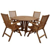 Royalcraft Henley 4 Seater Dining Set with Manhattan Recliners