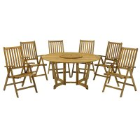 Royalcraft Henley 6 Seater Dining Set with Manhattan Recliners