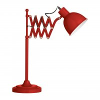 Red Extendable Table Lamp