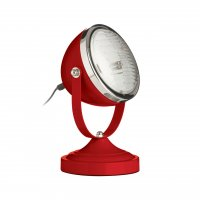 Jasper Red and Chrome Spot Table Lamp