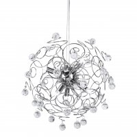 Swirl Crystal and Chrome Pendant Light