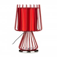 Aria Red Metal Table Lamp