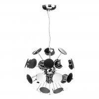 Disc Large Chrome Pendant Light