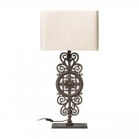 Pacific Ornate Table Lamp with Cream Shade