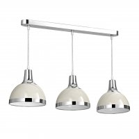 Vermont 3 Light Clay and Chrome Pendant Light