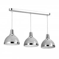 Vermont 3 Light Flint Grey and Chrome Pendant Light