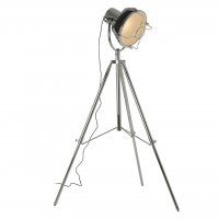 Industrial Revolution Tripod Matte Black Floor Lamp