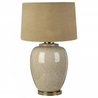 Anora Mosaic Ceramic Table Lamp with Stone Linen Shade