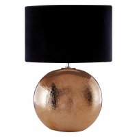 Jarvis Copper Ceramic Table Lamp with Black Shade