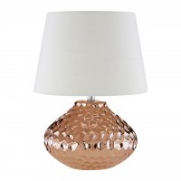 Jen Copper Ceramic Table Lamp with White Shade