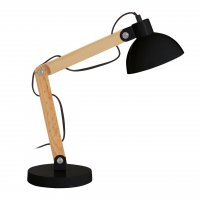 Blake Black and Wooden Table Lamp