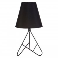 Bardo Black Metal Table Lamp with Black Shade