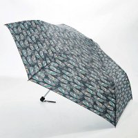 Eco Chic Mini Umbrella - Black Feather