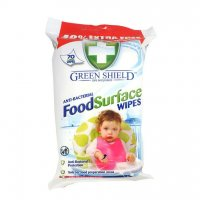 Green Shield Anti-Bacterial Food Surface Wipes (Pack of 70)