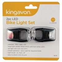 Kingavon 2pc LED Bike Light Set