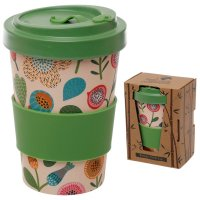 Puckator Autumn Falls Reusable Screw Top Bamboo Composite Travel Mug