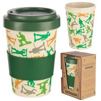 Puckator Toy Soldier Reusable Screw Top Bamboo Composite Travel Mug