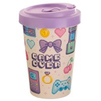 Puckator Next Gen Game Over Reusable Screw Top Bamboo Travel Mug
