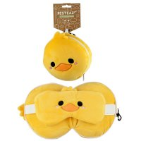 Puckator Resteazzz Plush Cutiemals Duck Round Travel Pillow & Eye Mask