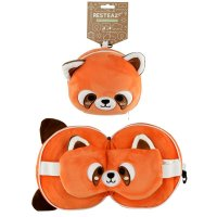 Puckator Resteazzz Plush Cutiemals Red Panda Travel Pillow & Eye Mask