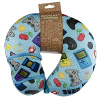 Puckator Resteazzz Game Over Travel Pillow & Eye Mask Set