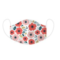 Poppy Fields Reusable Face Cover Mask- Large