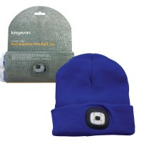 Kingavon Rechargeable Headlight Hat 4 SMD USB - Blue