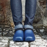 Smart Garden Comfi Fleece Clog Navy - Size 4