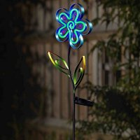 Solar Stake Lights Neon Esque Bloom