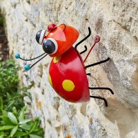 Crazee Ladybug  wall Ornament - Medium