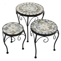 Summer Terrace Verde Round Plant Stand (Set of 3) - Low