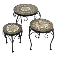 Summer Terrace Brava Round Plant Stand (Set of 3) - Low