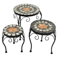 Summer Terrace Nova Round Plant Stands (Set of 3) - Low