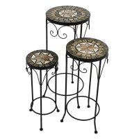 Summer Terrace Brava Round Plant Stand (Set of 3) - Tall